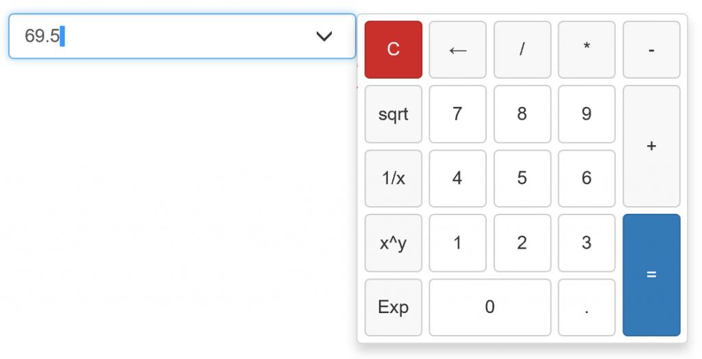 webinput calculator