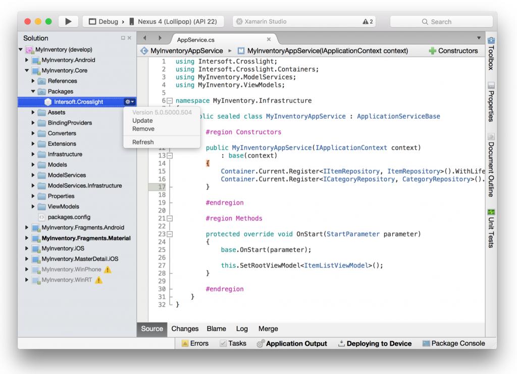 Crosslight NuGet support for Xamarin Studio