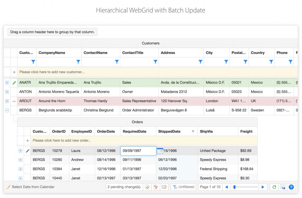 Hierarchical WebGrid