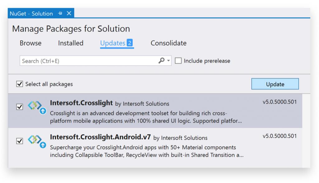 Updating Crosslight